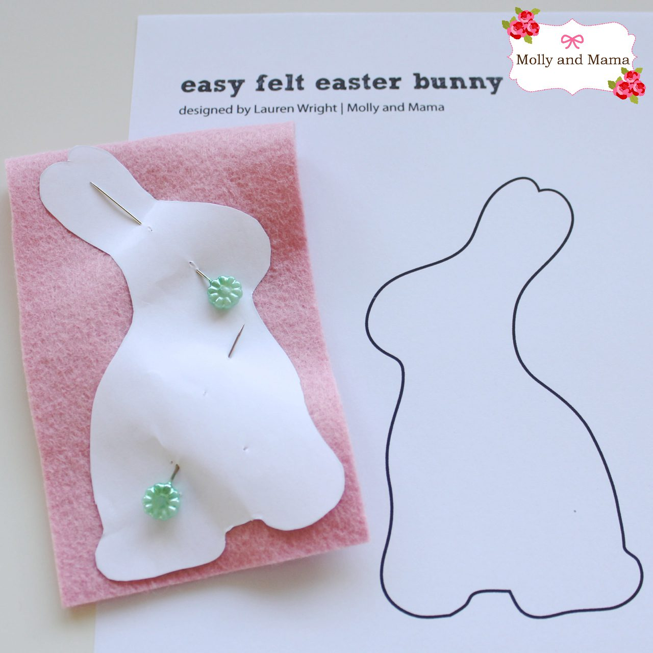 Easy Felt Bunny Tutorial by Molly and Mama 2