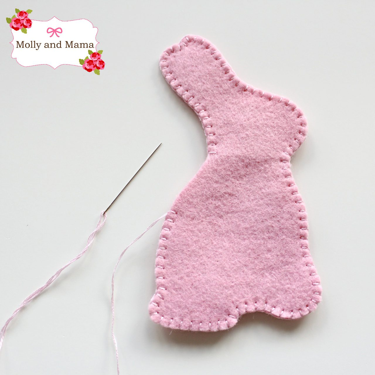Easy Felt Bunny Tutorial by Molly and Mama 5