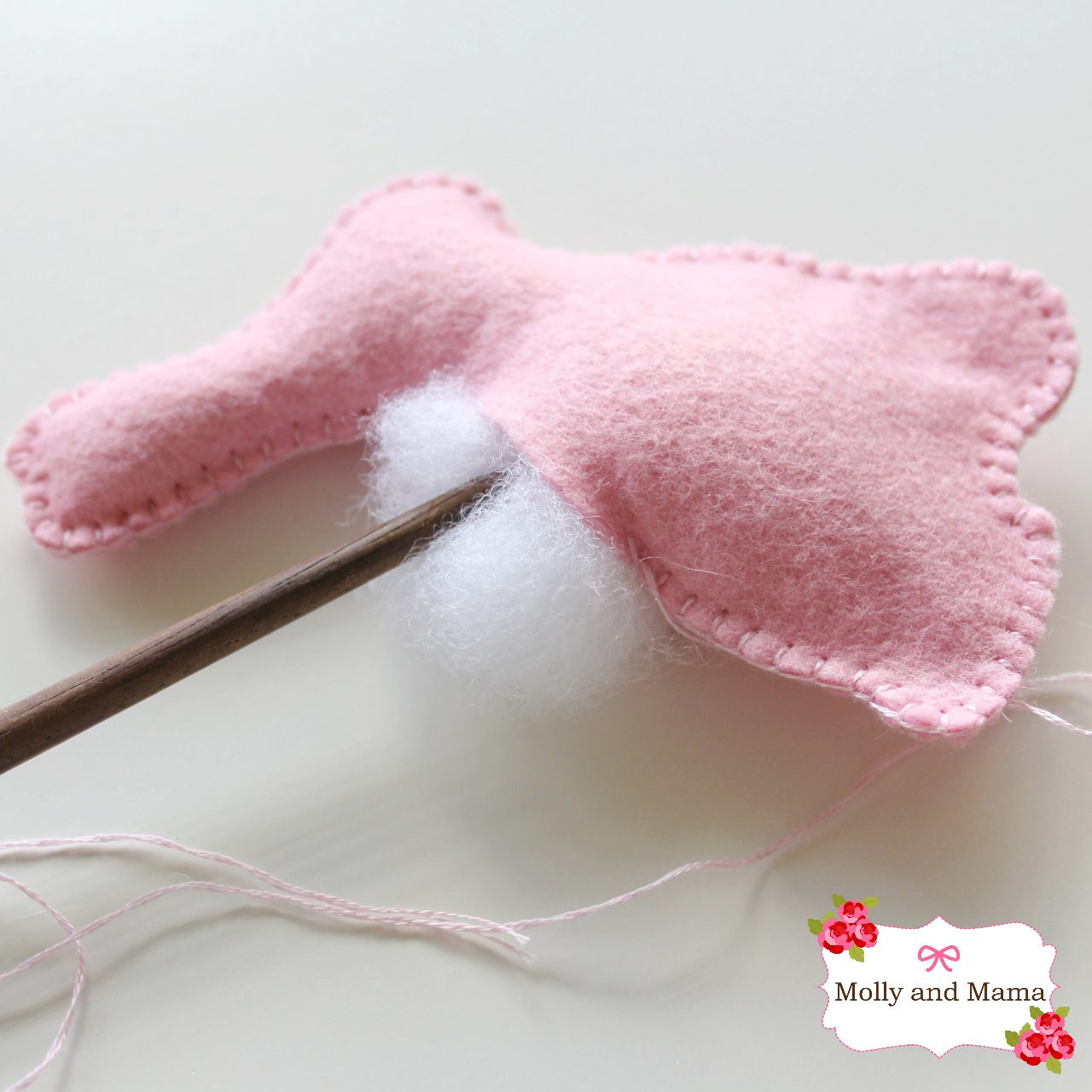 Easy Felt Bunny Tutorial by Molly and Mama 6