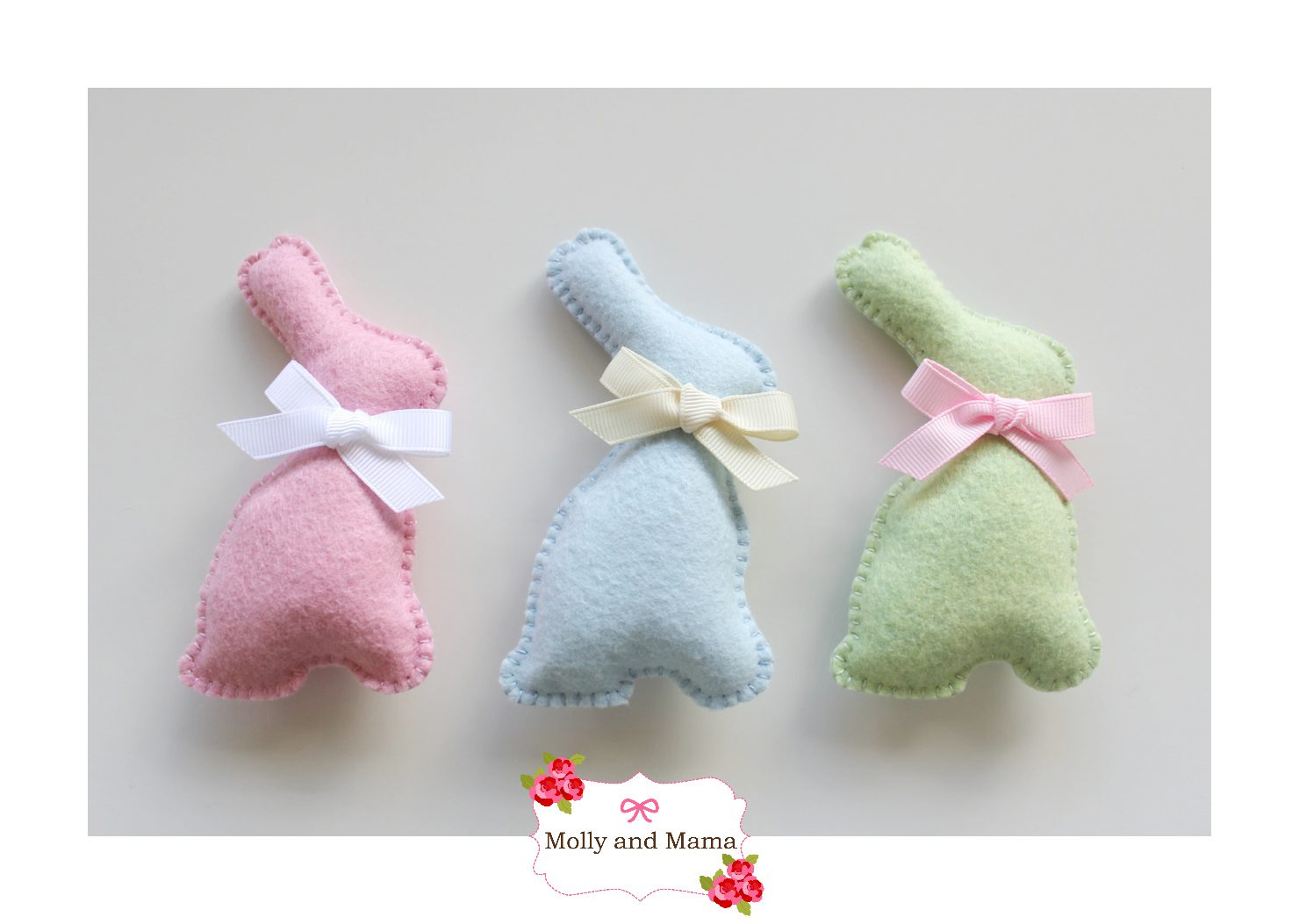 Easy Felt Bunny Tutorial by Molly and Mama 9