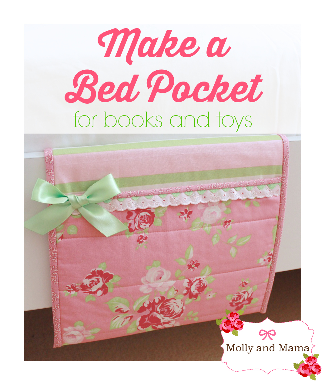 Make a Bed Pocket - a tutorial by Molly and Mama for www.SewMccool.com