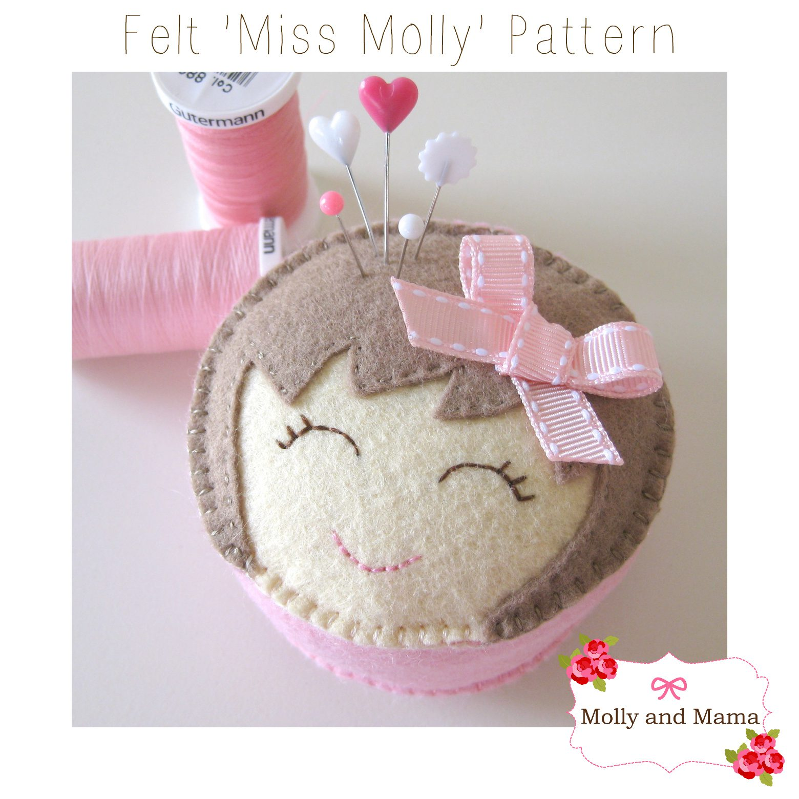 Miss Molly Pin Cushion Pattern by Molly and Mama