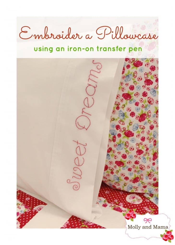 Embroider a Pillowcase with Molly and Mama