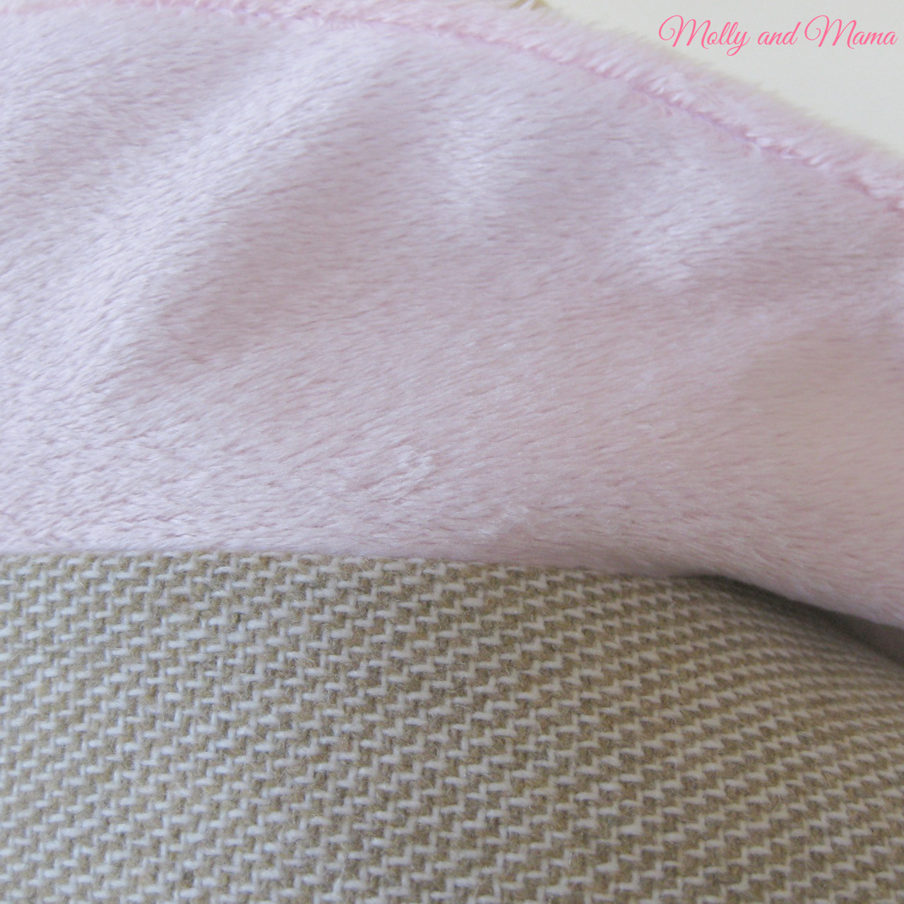 Lining detail on the capelet - pink knit 'minky' and wool suiting