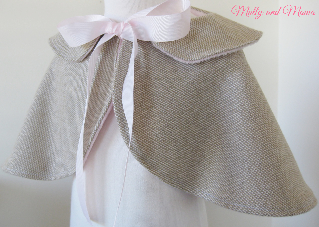 Pretty Wool Cape by Molly and Mama
