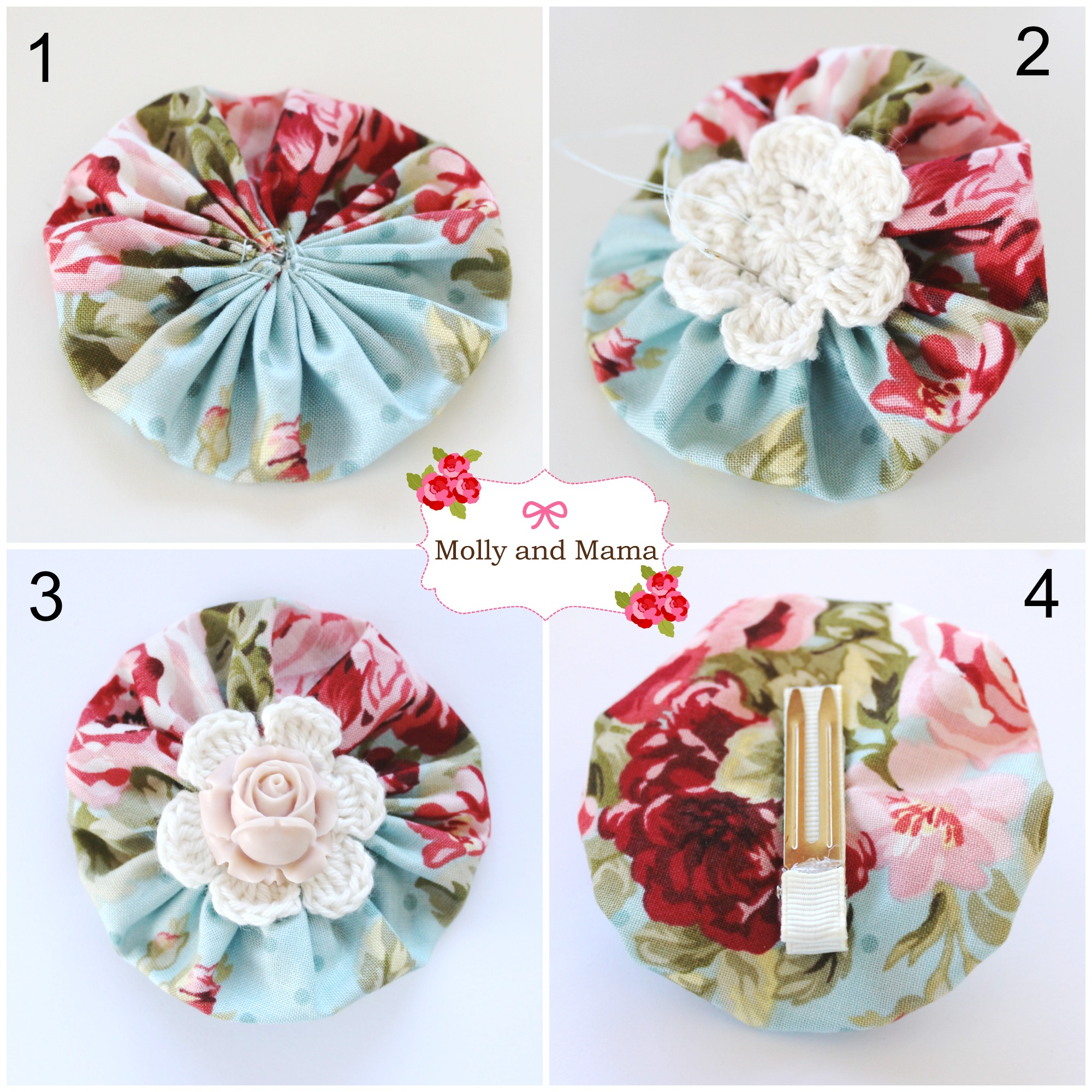 Create a Yo Yo Hair Clip - an easy tutorial by Molly and Mama