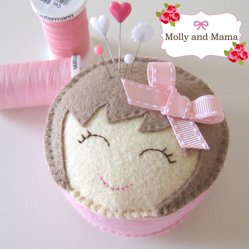 Miss Molly pin cushion PDF pattern by Molly and Mama