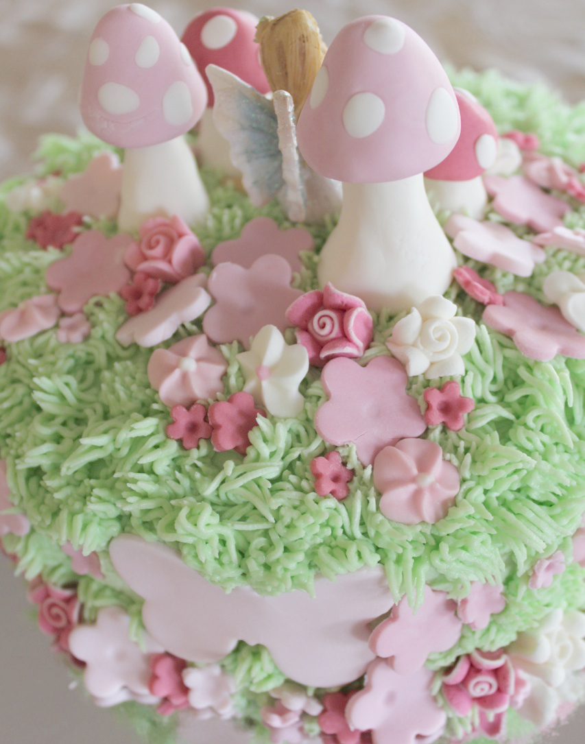 The back of a fairy cake made by Molly and Mama