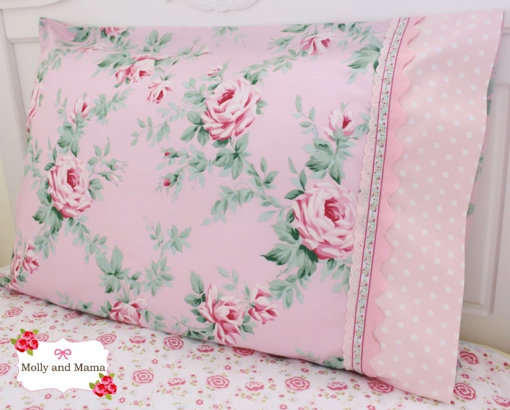 Pretty Pillowcase tutorial by Molly and Mama