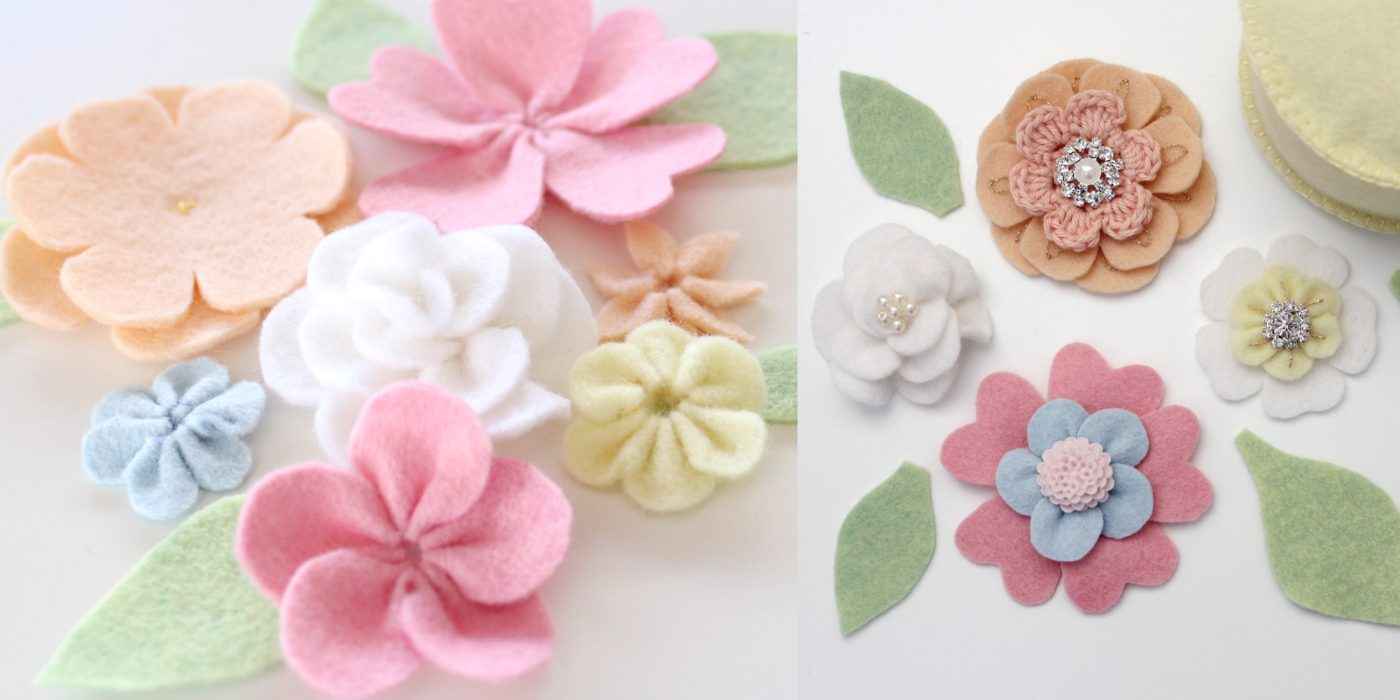 Felt flowers by Molly and Mama