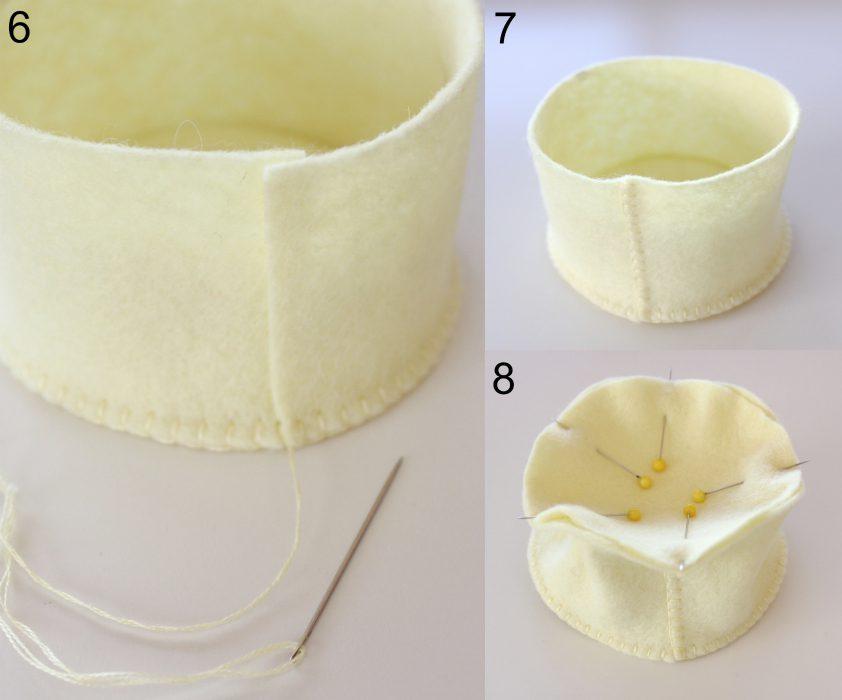 Make a Felt Flower Pin Cushion - Molly and Mama