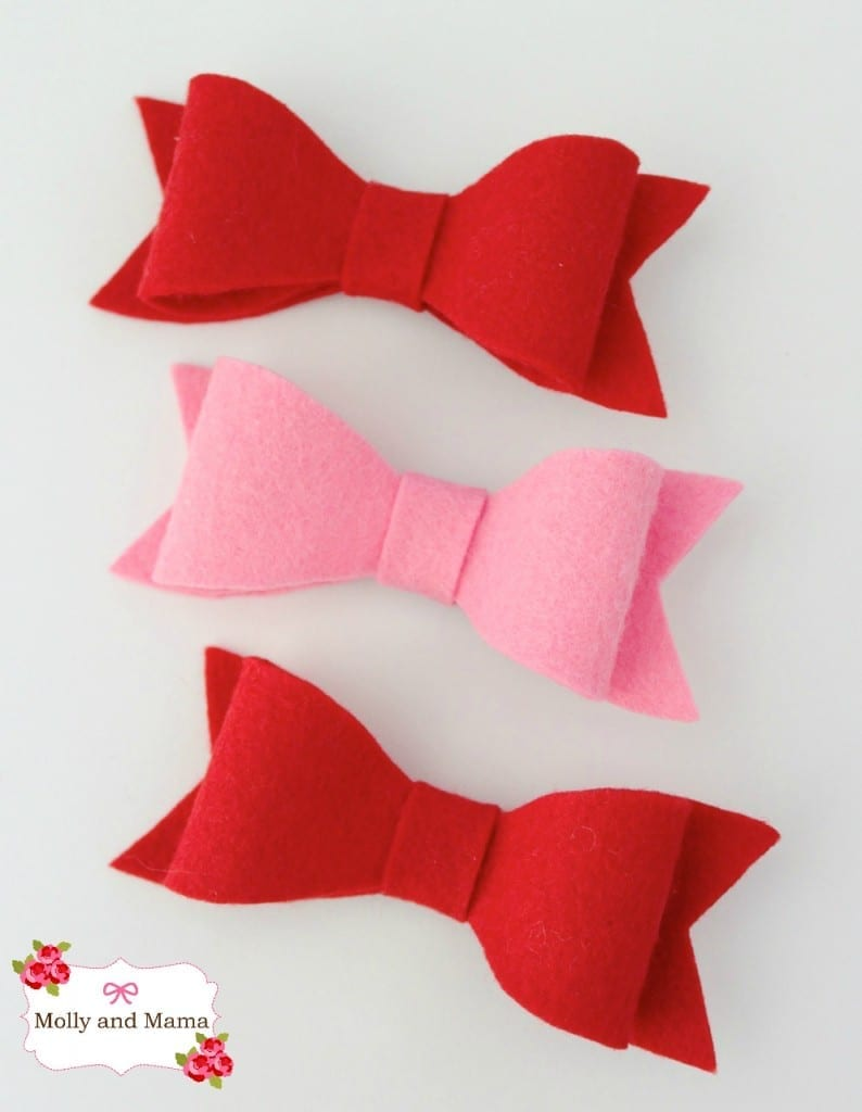 Wool Felt Hair Bows by Molly and Mama