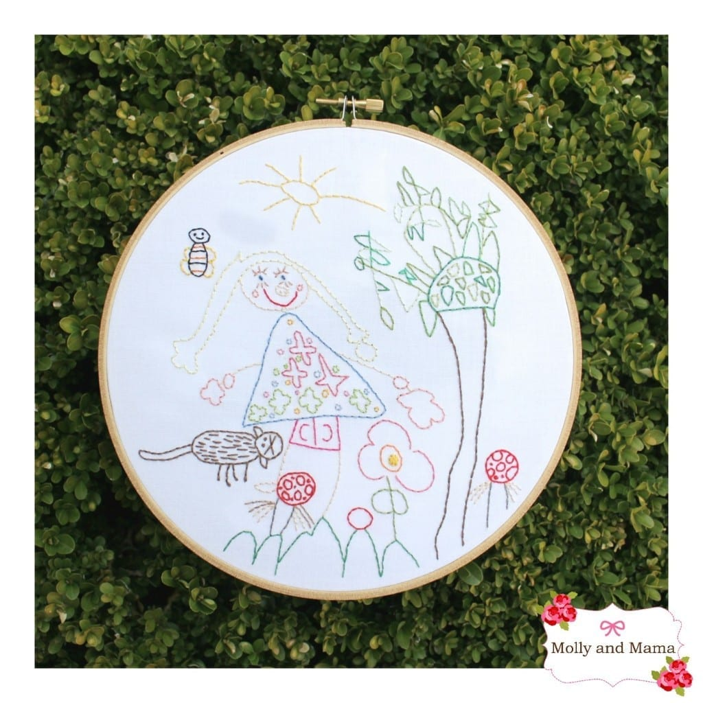 Embroidered Children's Art by Molly and Mama