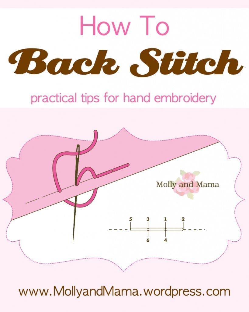 How to Back Stitch by Molly and Mama