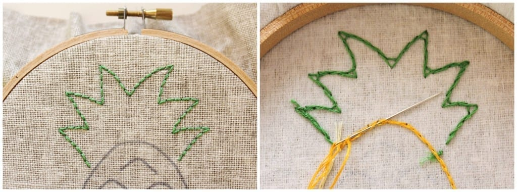 The front and back of Back Stitch