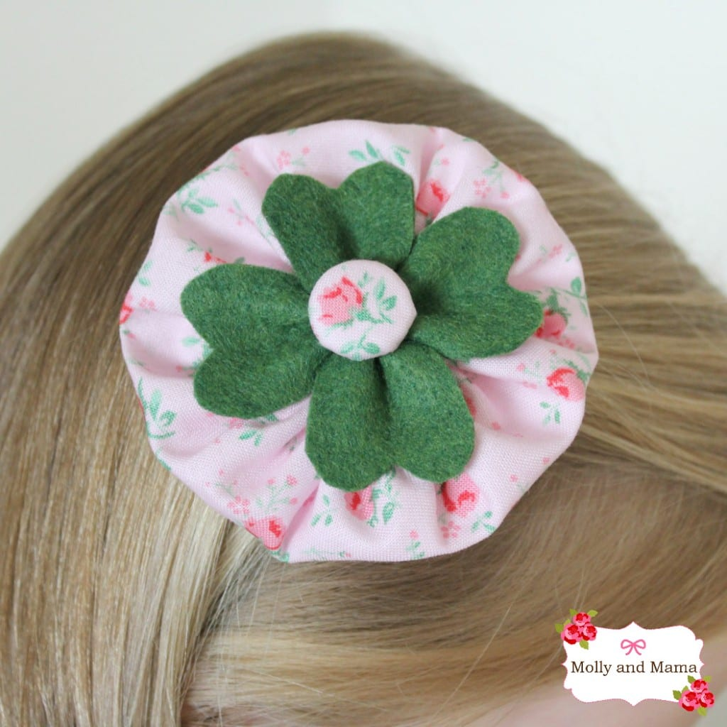Shamrock Hair Clip for Saint Patrick's Day - Molly and Mama