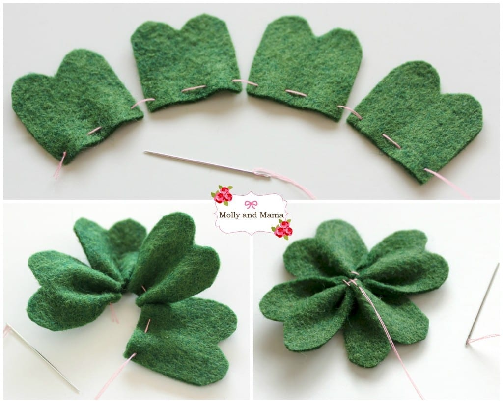 Sew a Four Leaf Clover with Molly and Mama