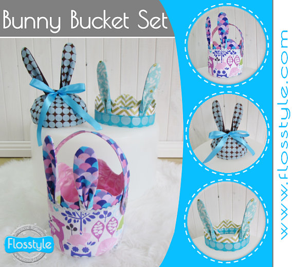 Bunny Bucket Pattern from Flosstyle