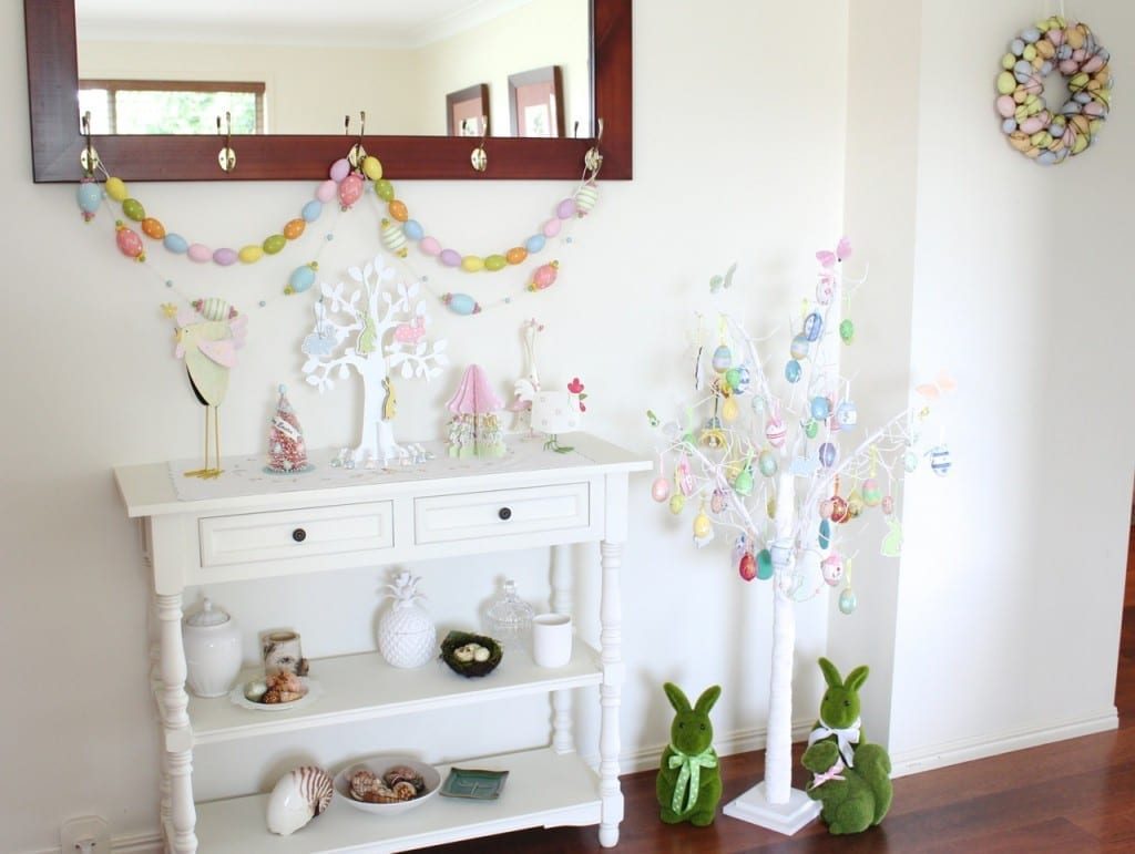 Molly and Mama decorates for Easter 2015