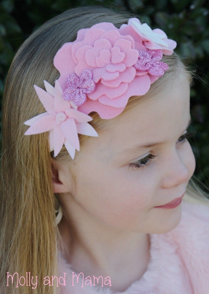 Coco Flower Crown in Pinks by Molly and Mama