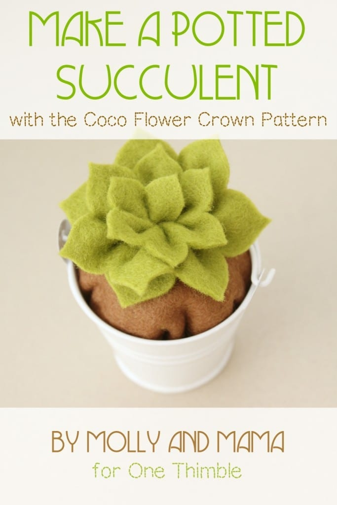 Potted Succulent Pattern Hack by Molly and Mama