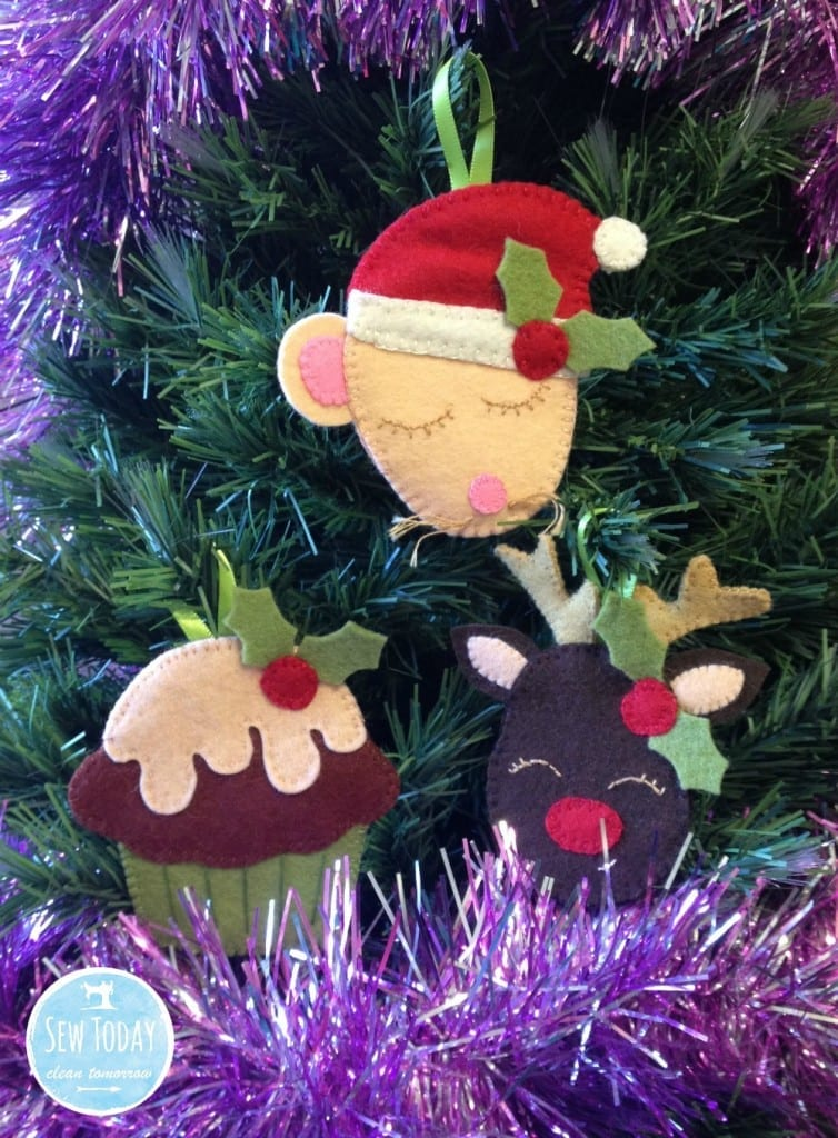 Sew Today, Clean Tomorrow's Festive Felties on the tree