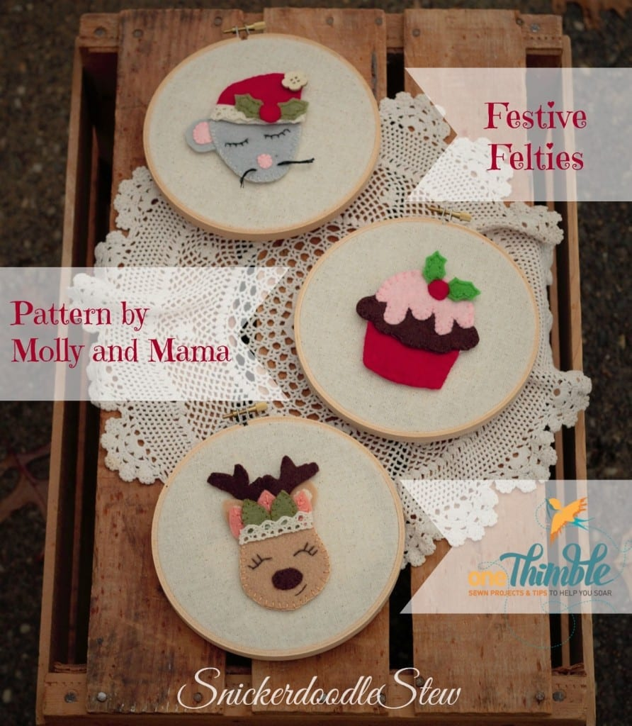 Festive Felties by Snickerdoodle Stew