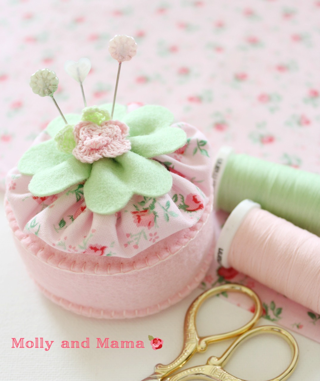 Lucky Pin Cushion by Molly and Mama