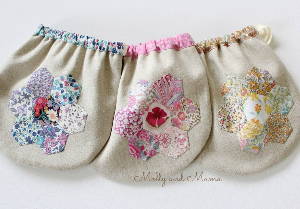 Liberty hexie pouches by Molly and Mama