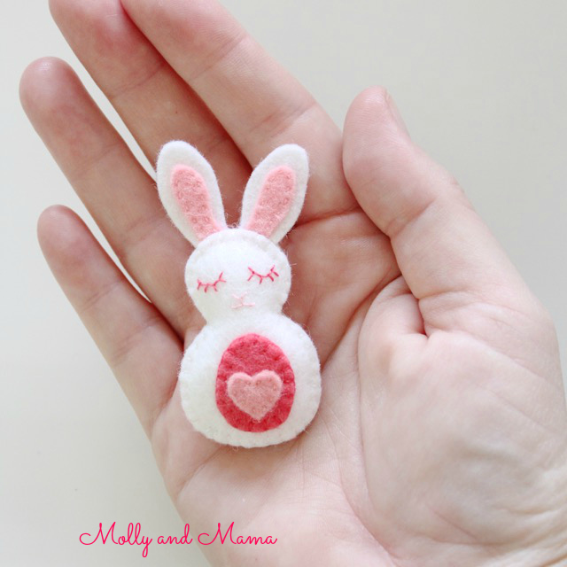 Only 2.5 inches tall - The Molly and Mama Bitty Bunnies