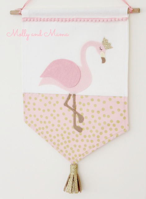Flamingo Banner by Molly and Mama
