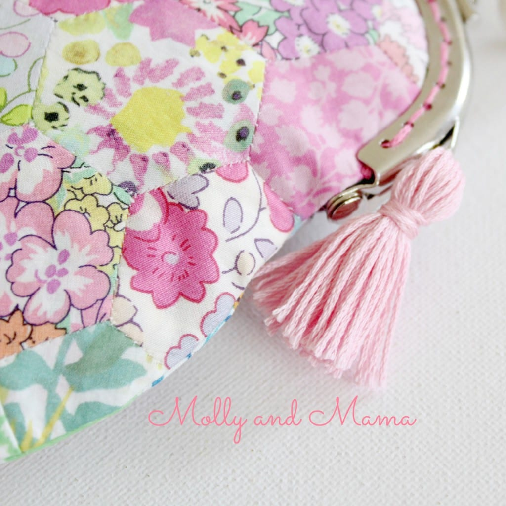 Tassel detail on the pretty penny purse from Molly and Mama