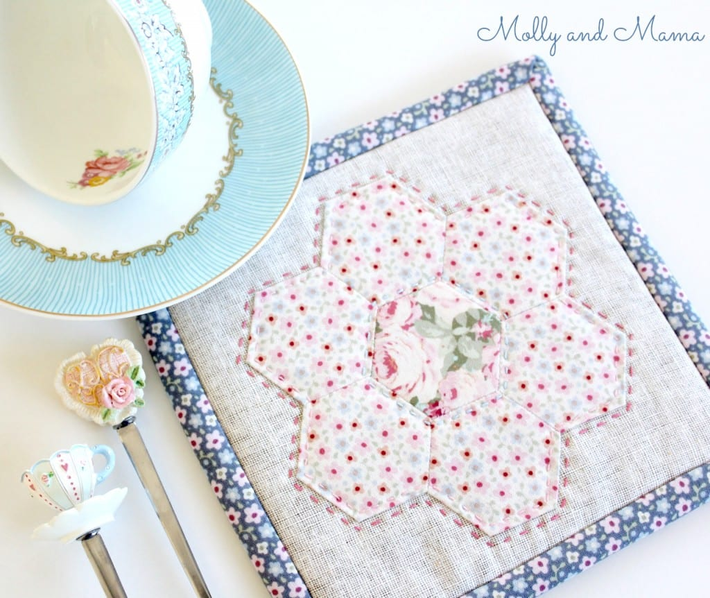 Make a Hexie Pot Holder - a tutorial by Molly and Mama