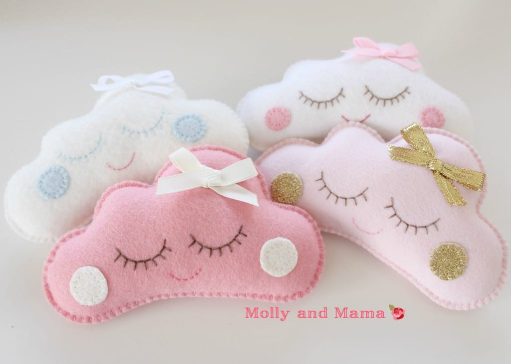 Sleepy Cloud pin cushions by Molly and Mama
